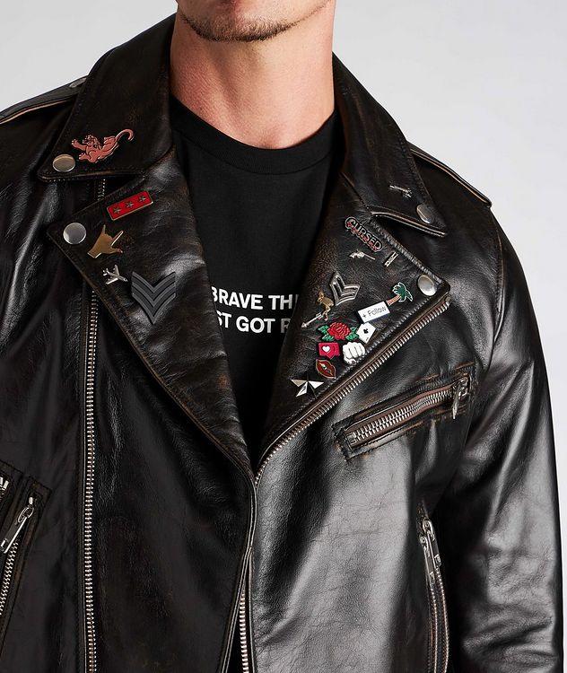 L-Garrett-New Leather Biker Jacket picture 4