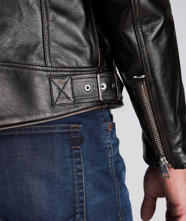 L-Garrett-New Leather Biker Jacket picture 5
