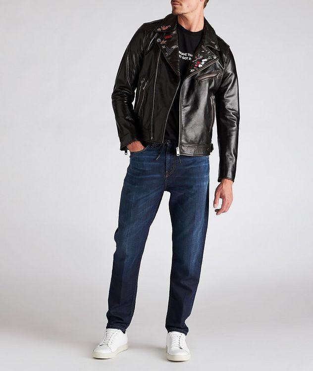 L-Garrett-New Leather Biker Jacket picture 6