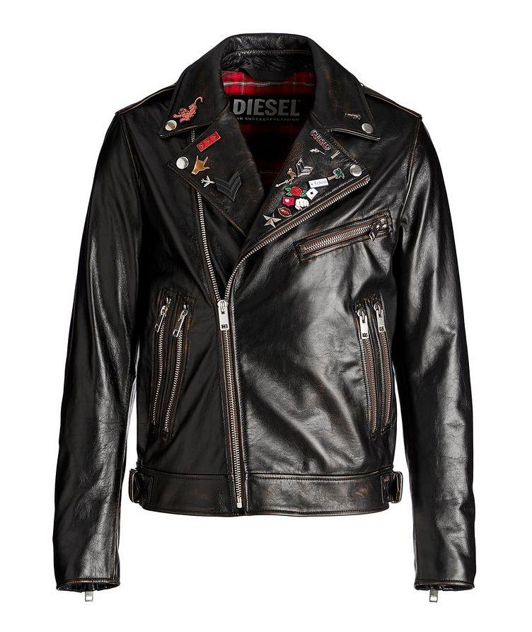 L-Garrett-New Leather Biker Jacket image 0