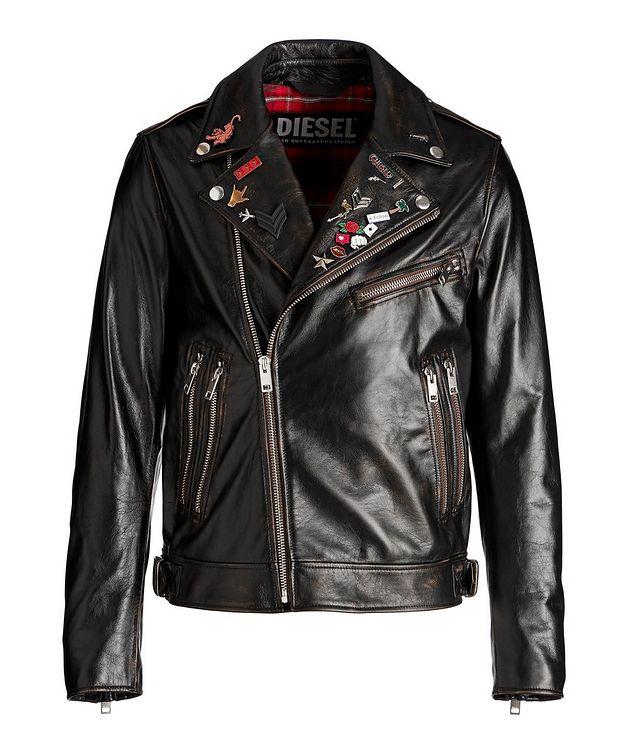L-Garrett-New Leather Biker Jacket picture 1