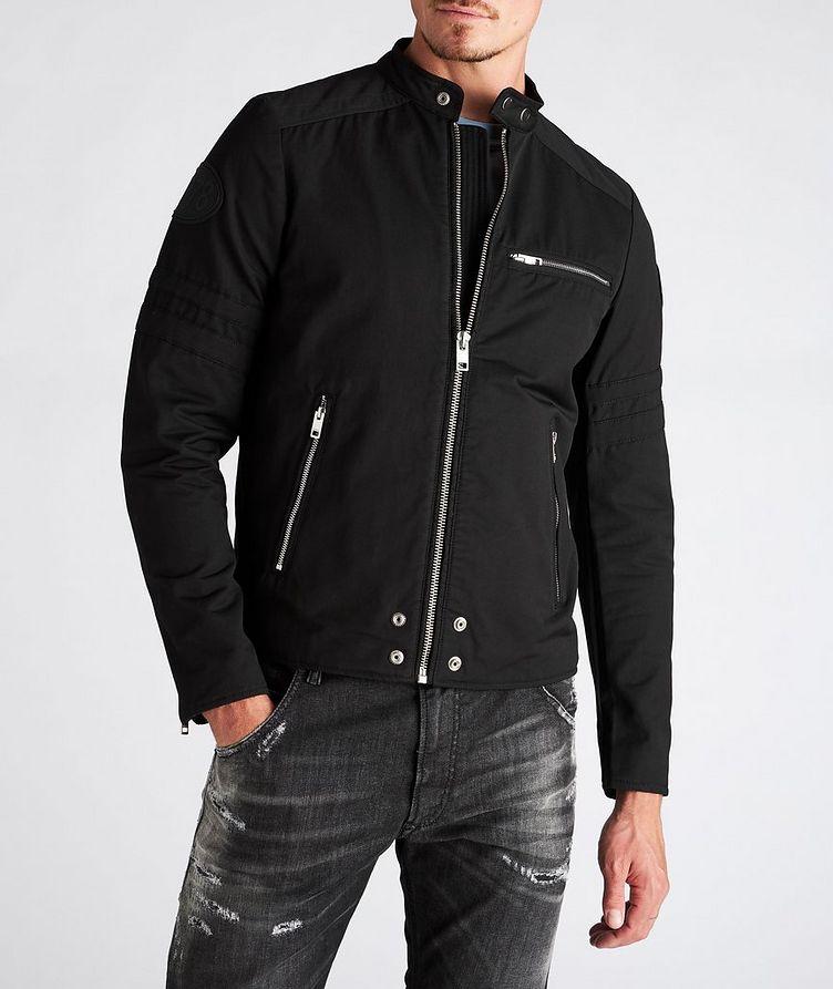 J-Glory Cotton-Blend Biker Jacket image 1