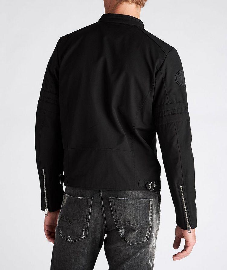 J-Glory Cotton-Blend Biker Jacket image 2