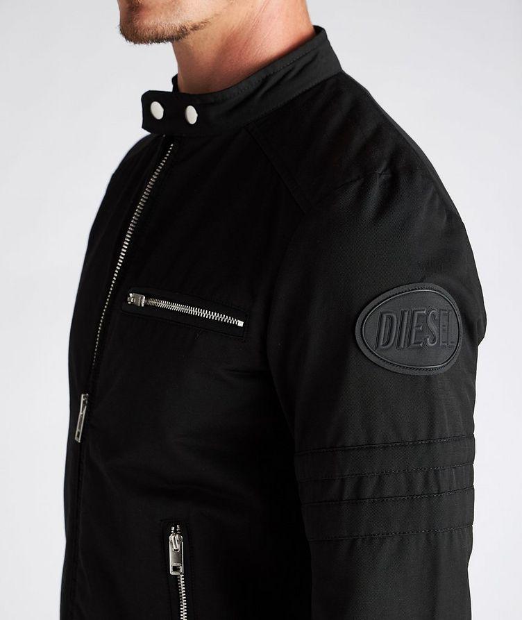 J-Glory Cotton-Blend Biker Jacket image 3