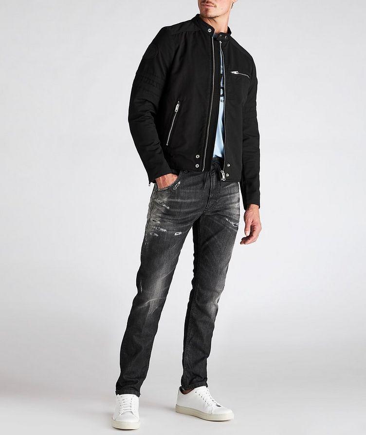 J-Glory Cotton-Blend Biker Jacket image 4