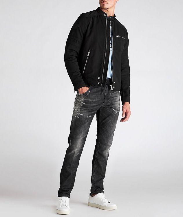 J-Glory Cotton-Blend Biker Jacket picture 5