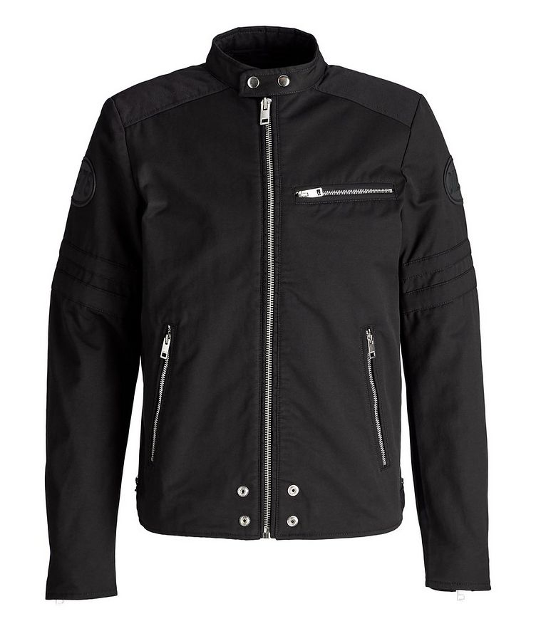 J-Glory Cotton-Blend Biker Jacket image 0