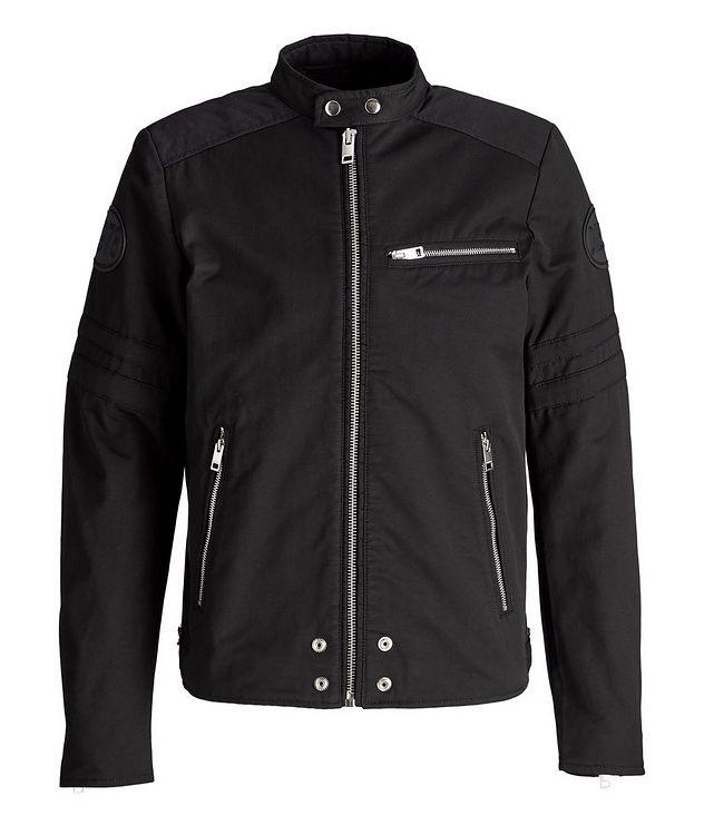 J-Glory Cotton-Blend Biker Jacket picture 1