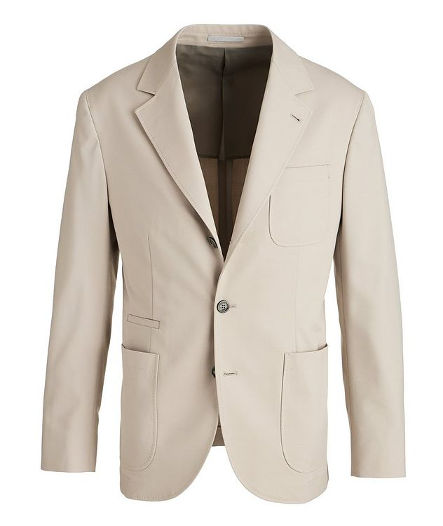 Stretch-Wool-Cotton Sports Jacket picture 1