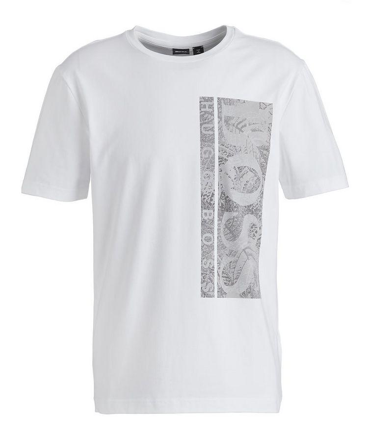 T-shirt en coton extensible avec logo image 0
