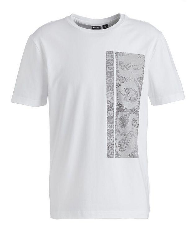 T-shirt en coton extensible avec logo picture 1