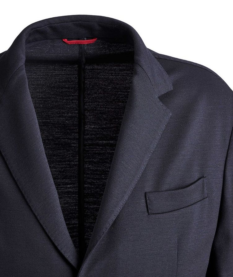 Unstructured Piqué Wool Sports Jacket image 2