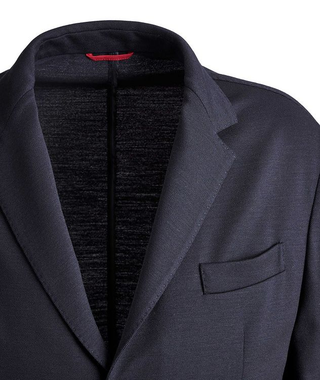 Unstructured Piqué Wool Sports Jacket picture 3