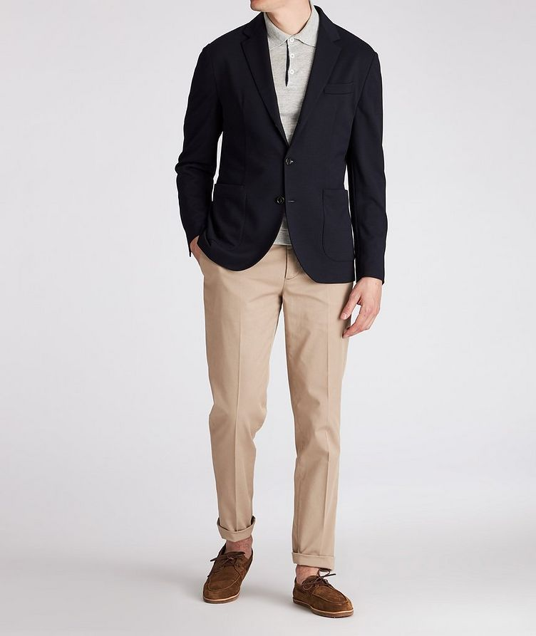 Unstructured Piqué Wool Sports Jacket image 3