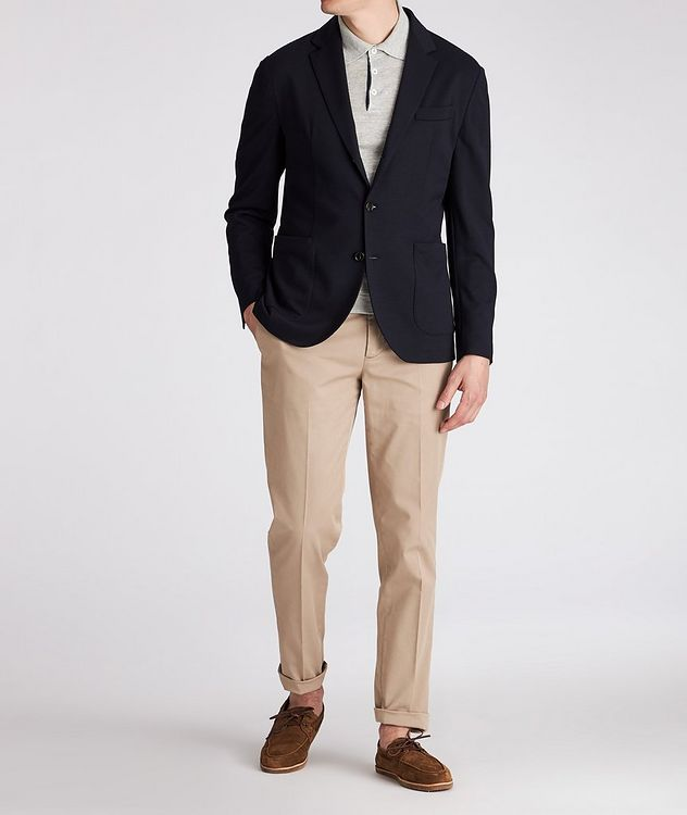 Unstructured Piqué Wool Sports Jacket picture 4