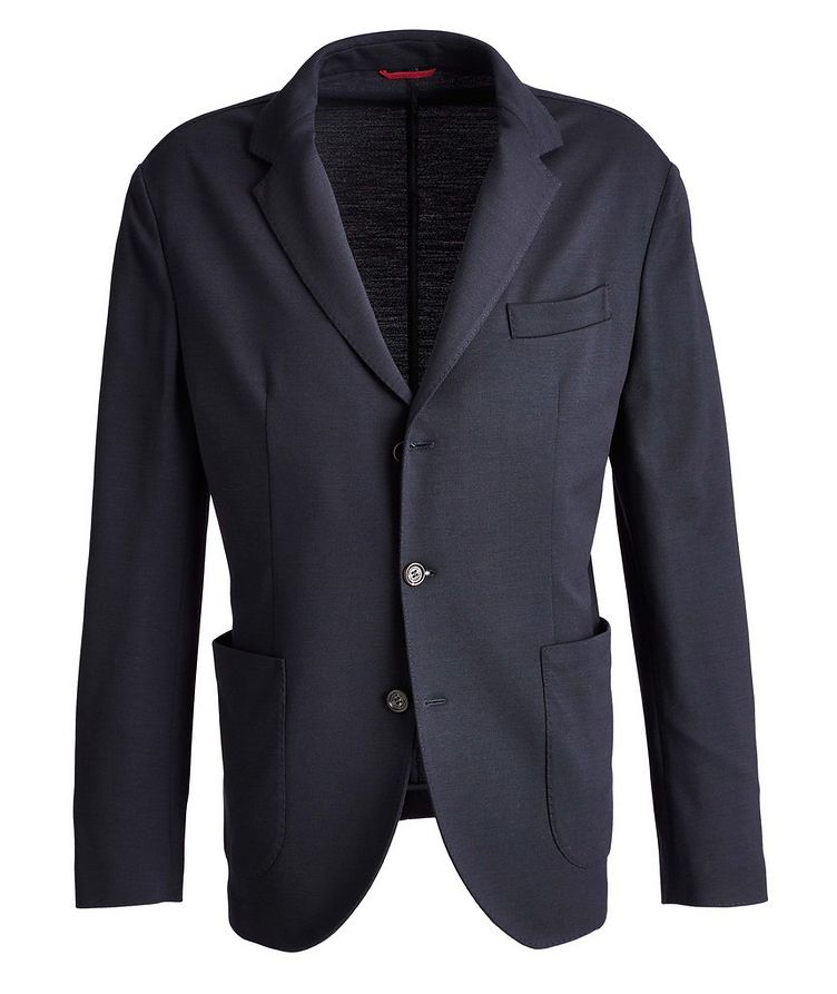 Unstructured Piqué Wool Sports Jacket image 0