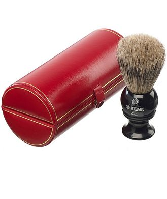 Kent Shaving Brush, Pure Grey Badger