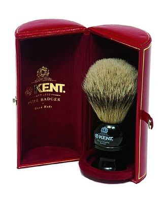Kent Shaving Brush, Pure Silver Tip Badger