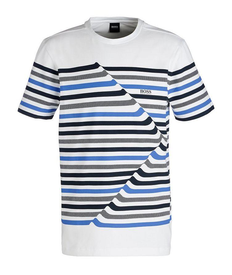 Striped Cotton Blend T-Shirt image 0