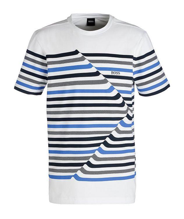 Striped Cotton Blend T-Shirt picture 1