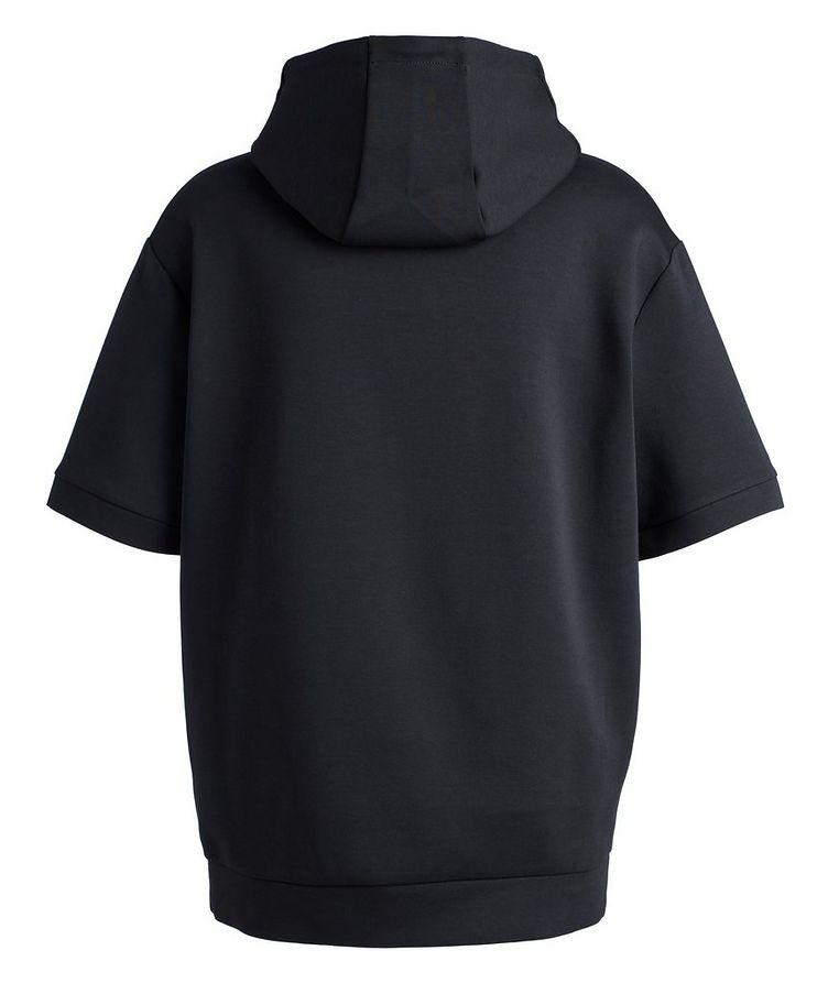 BOSS Short-Sleeve Cotton-Blend Hoodie image 1
