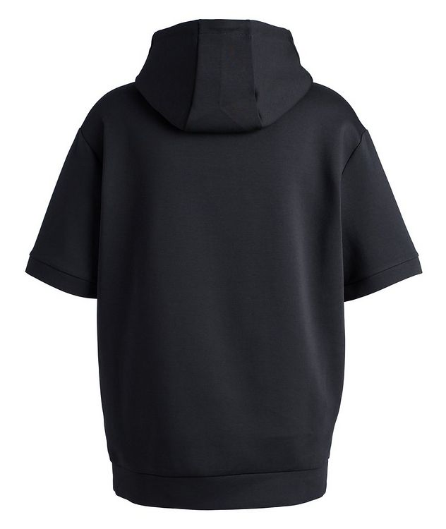 BOSS Short-Sleeve Cotton-Blend Hoodie picture 2
