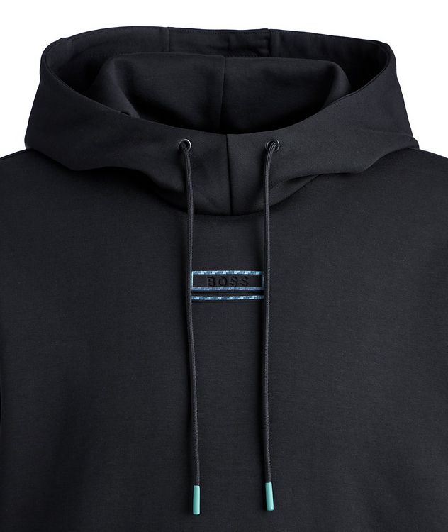 BOSS Short-Sleeve Cotton-Blend Hoodie picture 3