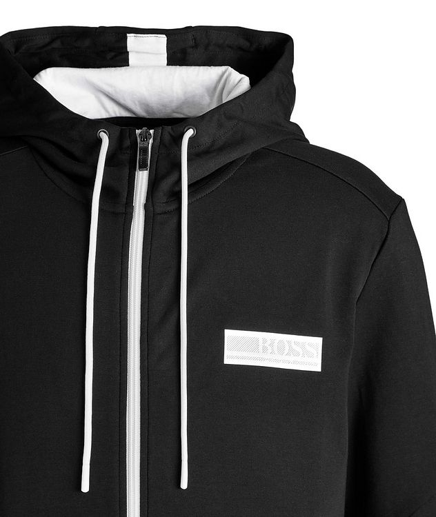 Drawstring Cotton-Blend Hoodie picture 3
