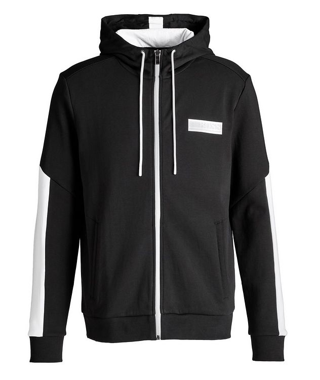 Drawstring Cotton-Blend Hoodie picture 1