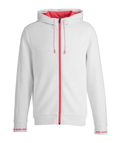 BOSS Zip-Up Cotton-Blend Hoodie