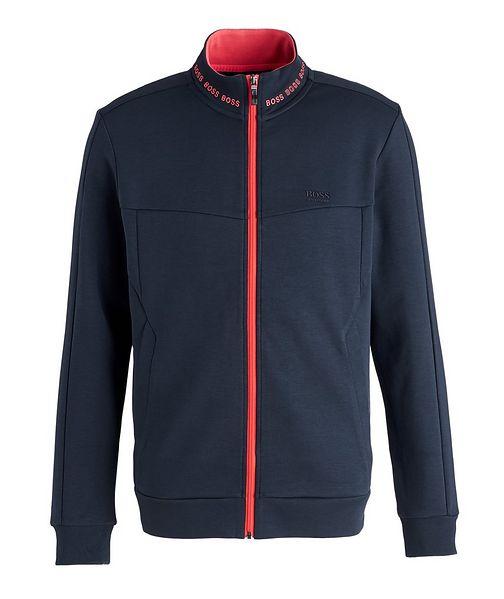 BOSS Logoed Zip-Up Sweatshirt