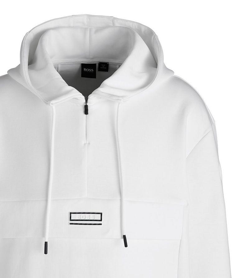 Drawstring Cotton-Blend Hoodie image 1