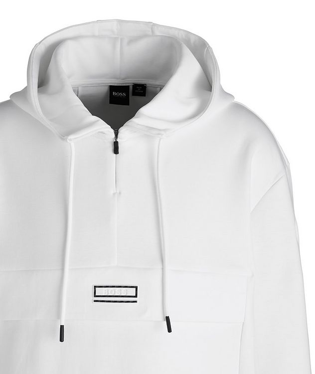 Drawstring Cotton-Blend Hoodie picture 2
