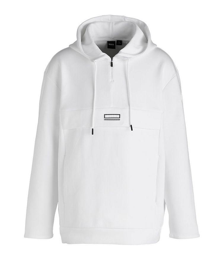 Drawstring Cotton-Blend Hoodie image 0