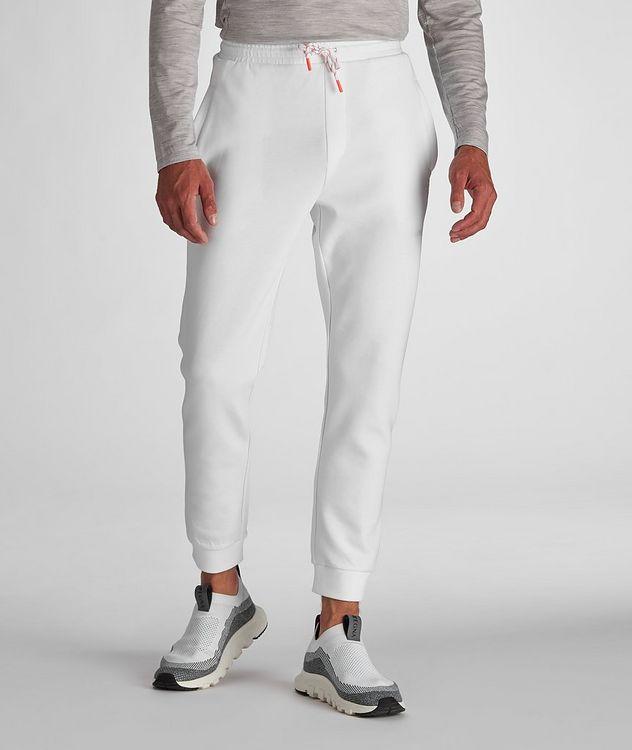 Pantalon sport en mélange de coton avec logo picture 2