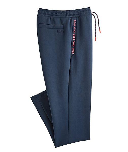 BOSS Logo Cotton-Blend Track Pants