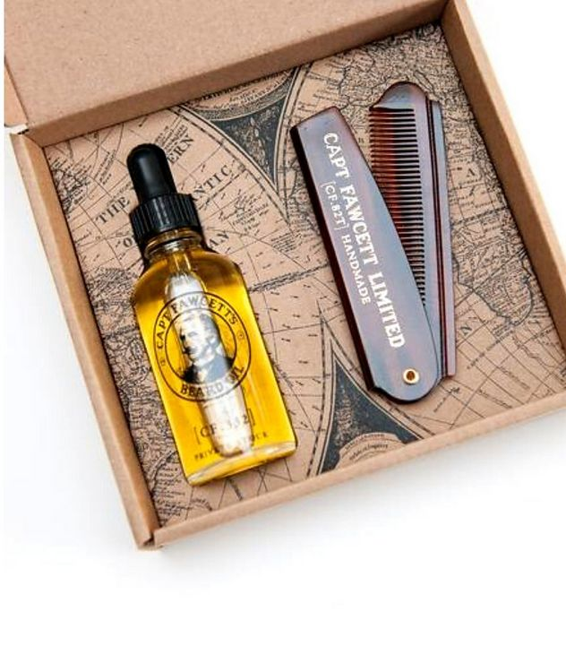 Beard Oil and Beard Comb Gift Set picture 2