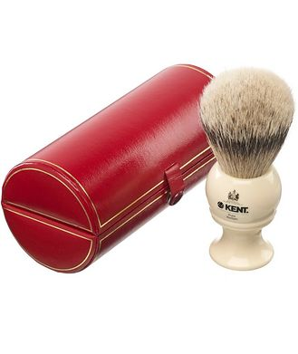 Kent Kent Shaving Brush, Pure Silver Tip Badger, Large