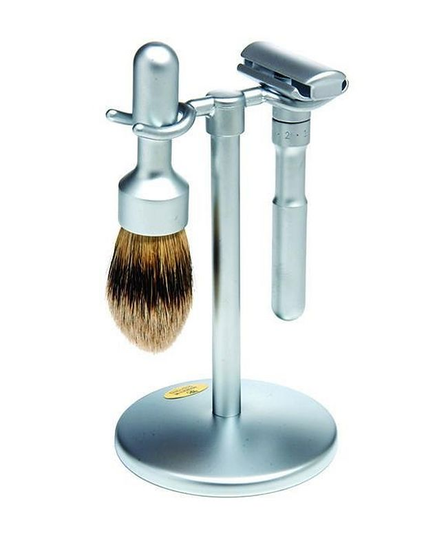 3pc Double Edge Safety Razor Shaving Set, Matte picture 1