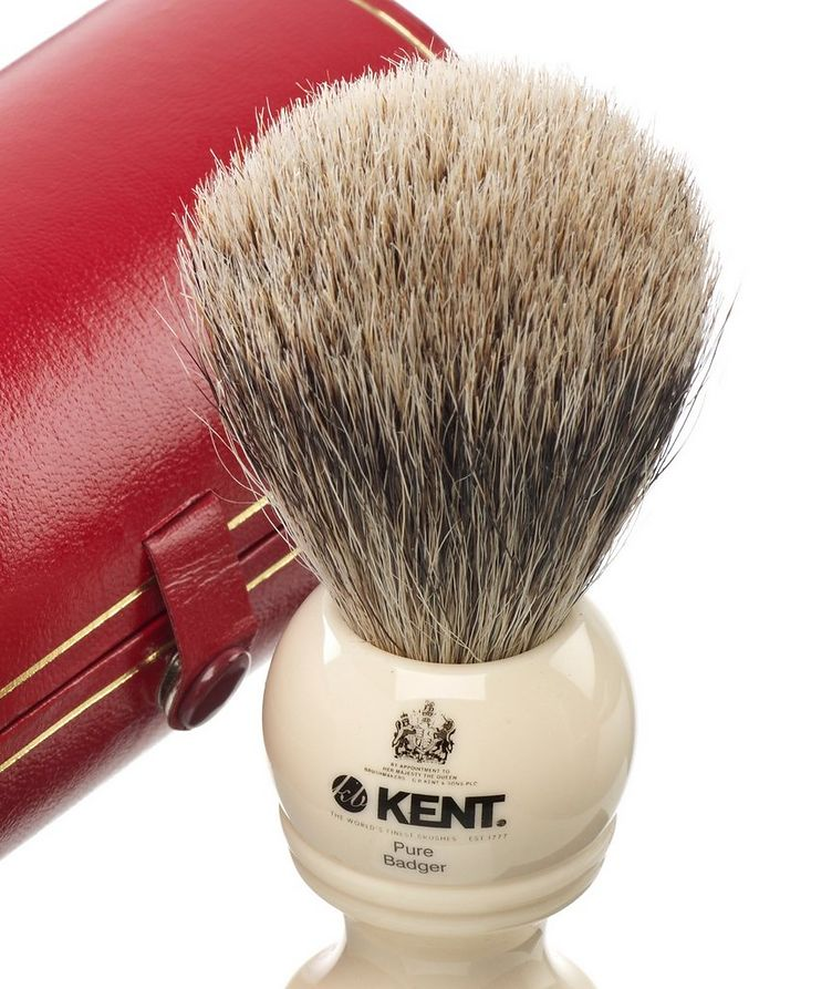 Kent Shaving Brush, Pure Grey Badger, Medium image 1