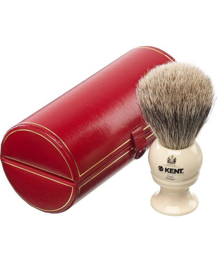 Kent Shaving Brush, Pure Grey Badger, Medium image 0