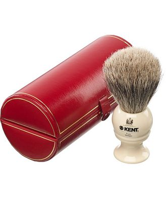 Kent Kent Shaving Brush, Pure Grey Badger, Medium