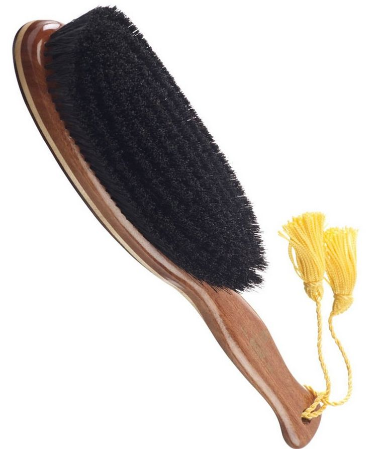 Large Clothes Brush, Pure Black Bristles image 0