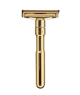 Merkur Adjustable Double Edge Safety Razor With Snap Closure, Gold
