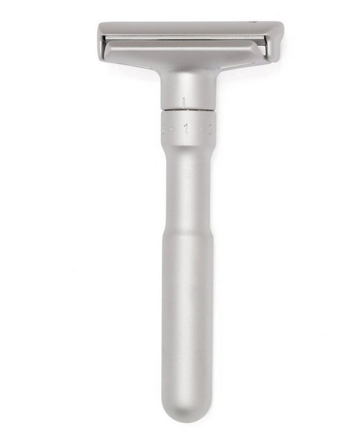 Adjustable Double Edge Safety Razor With Snap Closure, Matte image 1