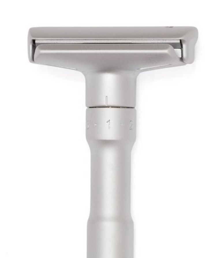 Adjustable Double Edge Safety Razor With Snap Closure, Matte image 3