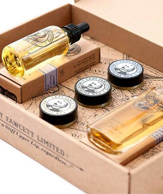 Captain Fawcett's Perfum, Wax and Beard Oil Gift Set
