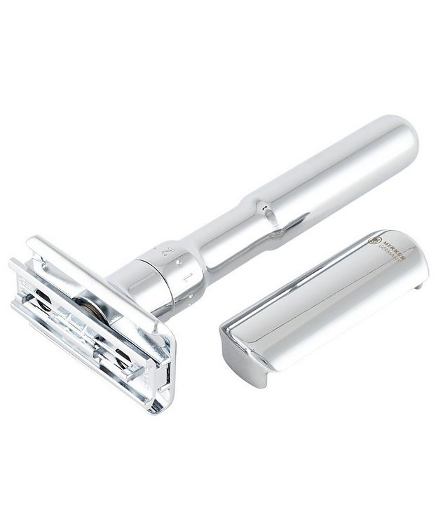 Adjustable Double Edge Safety Razor With Snap Closure, Chrome picture 3