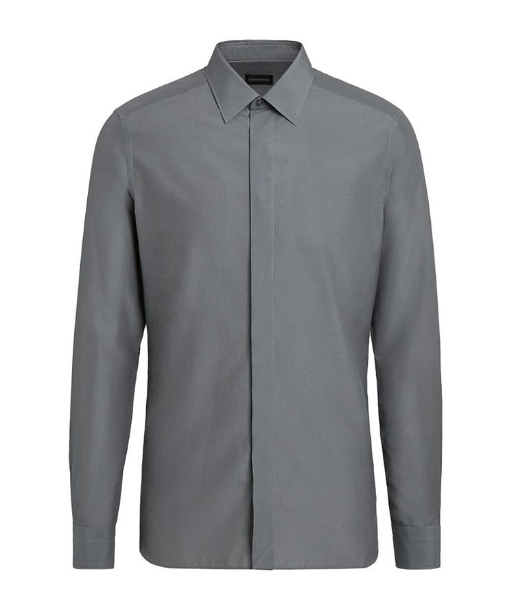 Slim Fit Cotton Silk Dress Shirt image 0