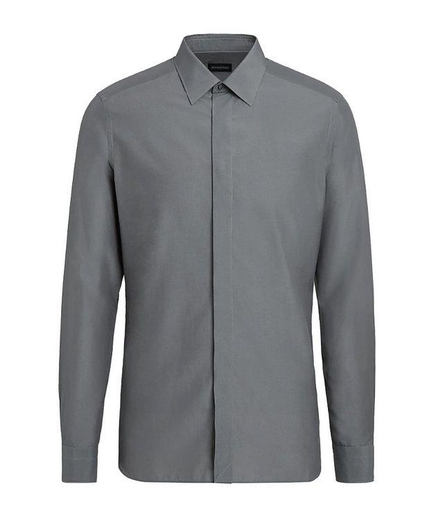 Slim Fit Cotton Silk Dress Shirt picture 1